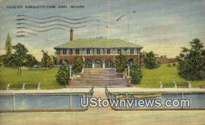 Pavilion, Marquette Park - Gary, Indiana IN Postcard