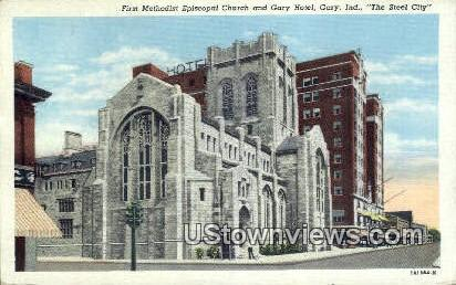 First Methodist Episcopal Church - Gary, Indiana IN Postcard