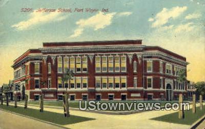 Jefferson School - Fort Wayne, Indiana IN Postcard