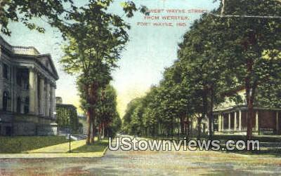 West Wayne Street - Fort Wayne, Indiana IN Postcard