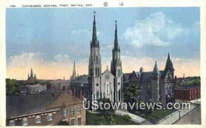 Cathedral Square - Fort Wayne, Indiana IN Postcard