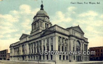 Court House, Fort Wayne - Indiana IN Postcard