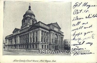 Allen County Court House - Fort Wayne, Indiana IN Postcard