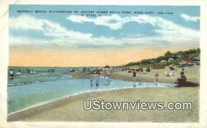 Waverly Beach - Gary, Indiana IN Postcard