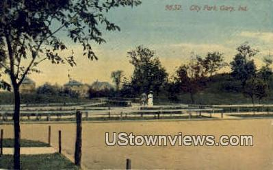 City Park, Gary - Indiana IN Postcard