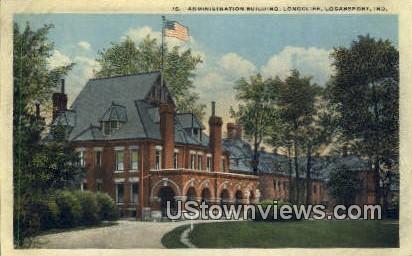 Admin Bldg, Longcliff - Logansport, Indiana IN Postcard