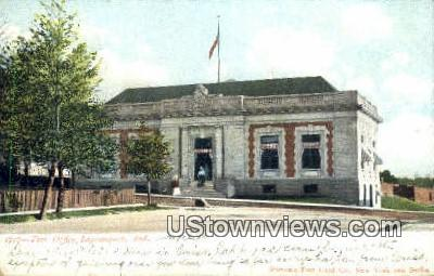 Post Office, Logansport - Indiana IN Postcard