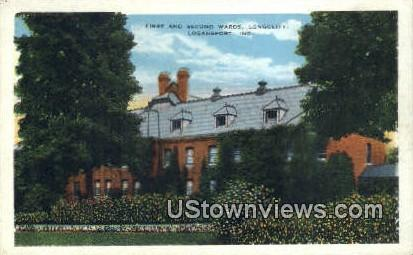 First & Second Wards, Longcliff - Logansport, Indiana IN Postcard