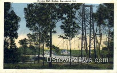 Country Club Bridge - Logansport, Indiana IN Postcard