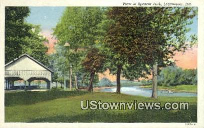 Spencer Park - Logansport, Indiana IN Postcard