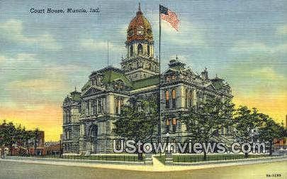 Court House, Muncie - Indiana IN Postcard