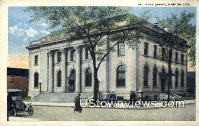 Post Office, Marion - Indiana IN Postcard