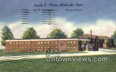 Emily E. Flinn Home for Aged - Marion, Indiana IN Postcard
