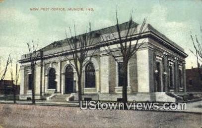 New Post Office, Muncie - Indiana IN Postcard