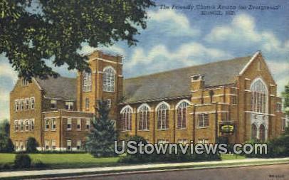 Friendly Church - Muncie, Indiana IN Postcard