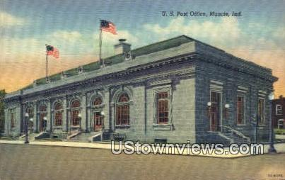 US Post Office, Muncie - Indiana IN Postcard