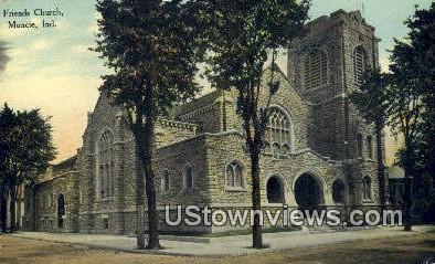 Friends Church - Muncie, Indiana IN Postcard
