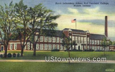 Laboratory School, Ball Teachers' College - Muncie, Indiana IN Postcard