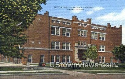 Martin Boots Junior High School - Marion, Indiana IN Postcard