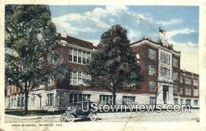High School, Muncie - Indiana IN Postcard