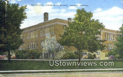 McCulloch Junior High School - Marion, Indiana IN Postcard