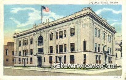 City Hall, Muncie - Indiana IN Postcard