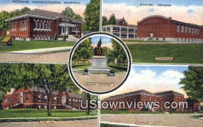 Veterans Admin Hospital - Marion, Indiana IN Postcard