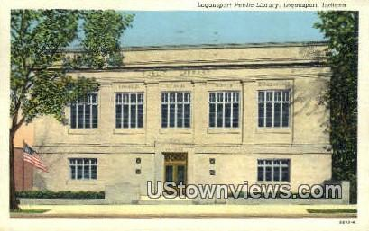 Logansport Public Library - Indiana IN Postcard