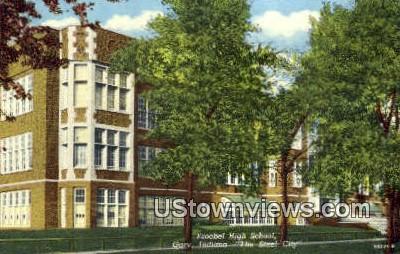 Froebel High School - Gary, Indiana IN Postcard