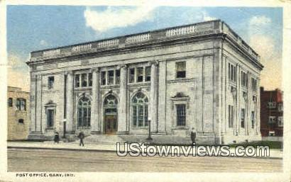 Post Office, Gary - Indiana IN Postcard