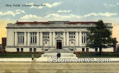 Gary Public Library - Indiana IN Postcard