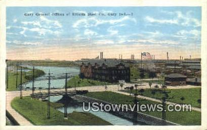 Gary General Offices, Illinois Steel Co - Indiana IN Postcard