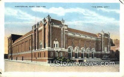 Auditorium, Gary - Indiana IN Postcard