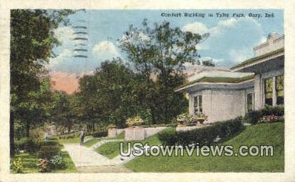 Comfort Bldg in Tyler Park - Gary, Indiana IN Postcard