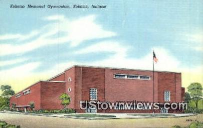 Kokomo Memorial Gym - Indiana IN Postcard