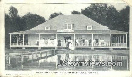 Bass Lake Country Club - Indiana IN Postcard