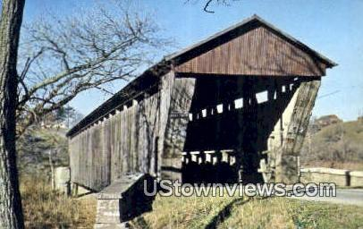 Brownsville Coverd Bridge - Union County, Indiana IN Postcard