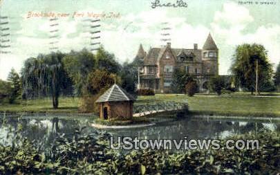 Brookside - Fort Wayne, Indiana IN Postcard