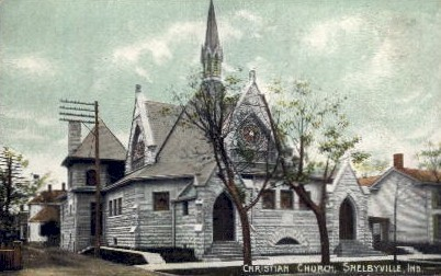 Christian Church   - Shelbyville, Indiana IN Postcard