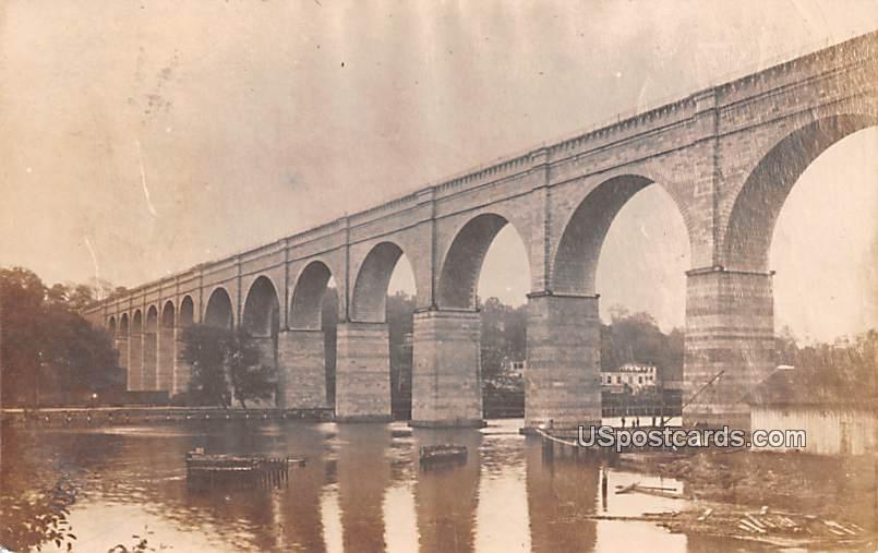 Arch Bridge - Terre Haute, Indiana IN Postcard
