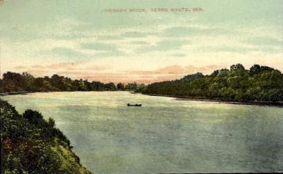 Wabash River - Terre Haute, Indiana IN Postcard