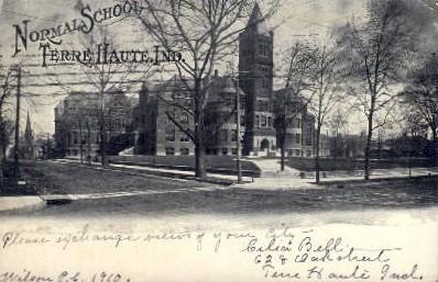 Normal School - Terre Haute, Indiana IN Postcard