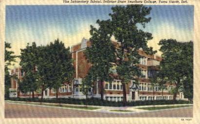 The Laboratory School - Terre Haute, Indiana IN Postcard