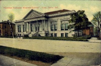Emeline Fairbanks Memorial Library - Terre Haute, Indiana IN Postcard