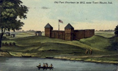 Old Fort Harrison - Terre Haute, Indiana IN Postcard
