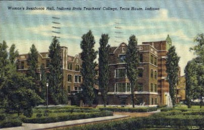 ndiana State Teachers' College - Terre Haute, Indiana IN Postcard