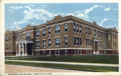 Garfield High School - Terre Haute, Indiana IN Postcard