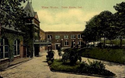 Water Works - Terre Haute, Indiana IN Postcard