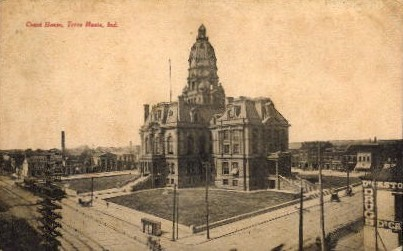 Court House - Terre Haute, Indiana IN Postcard
