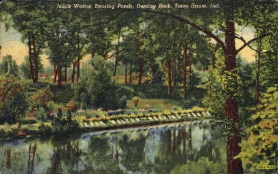Izaak Walton Rearing Ponds - Terre Haute, Indiana IN Postcard